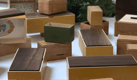 Boxes Made in Beginning Woodworking Class in Tampa